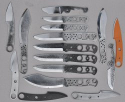 assorted blades